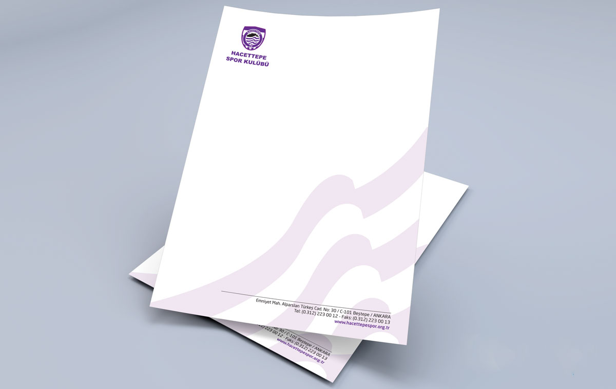 Hacettepe Spor Kulübü Antetli Kağıt Tasarımı