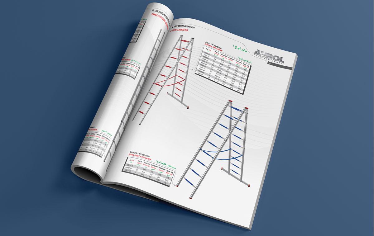 Asmol Merdiven Katalog Tasarımı