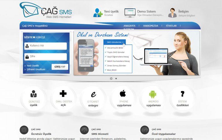 Çağ Sms Web Tasarımı ve Yazılımı
