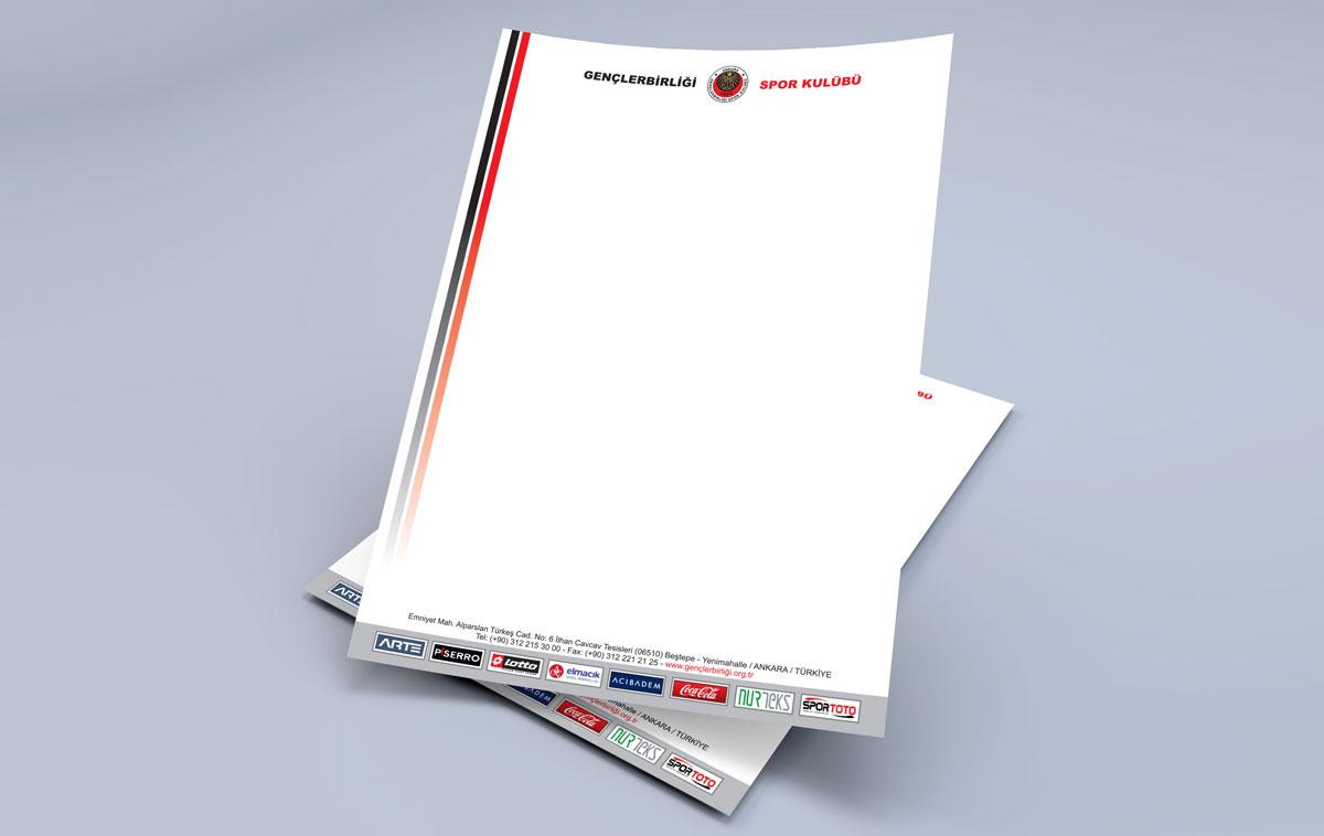 Gençlerbirliği Antetli Kağıt Tasarımı