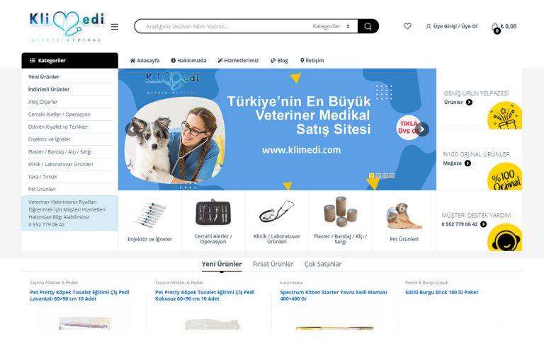 Klimedi.com Veteriner Malzemeleri E-Ticaret Sitesi