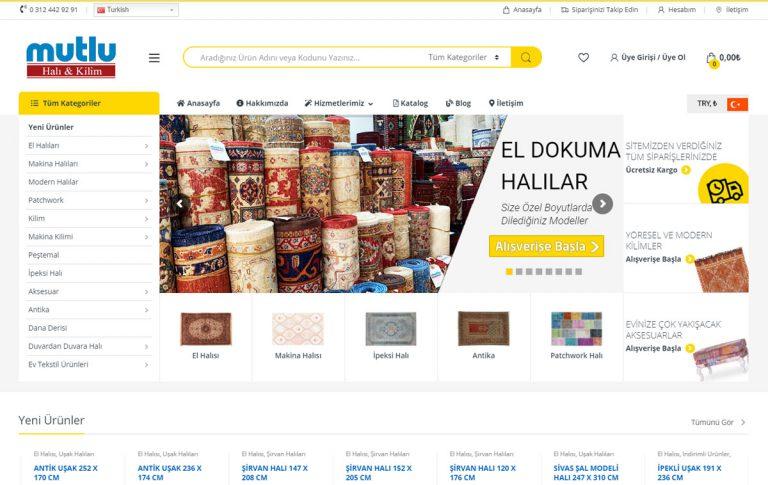 Mutlucarpet Halı E-Ticaret Sitesi