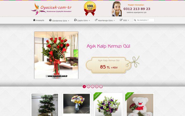 Oya Çiçek Web Tasarım ve Yazılımı