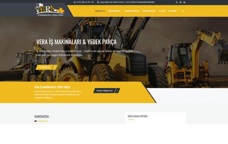 Vera İş Makinaları Kurumsal Web Tasarım ve Yazılımı