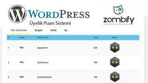 Wordpress Üyelik Puan Sistemi